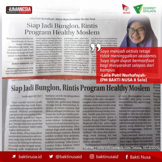Laila Putri Nurhafsyah, Rintis Program Healthy Moslem
