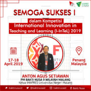 Penerima Manfaat BAKTI NUSA ikuti Kompetisi International Innovation in Teaching and Learning (I-InTeL)