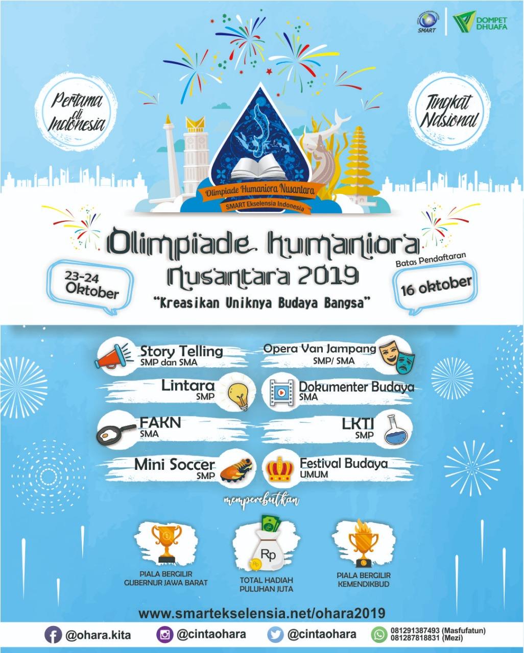 Jaga Budaya Indonesia di Olimpiade Humaniora Nusantara Kuy