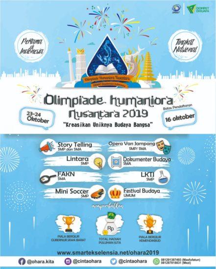 Hah Olimpiade Humaniora Nusantara? Apaan Tuh? Makanya Cek di Sini!
