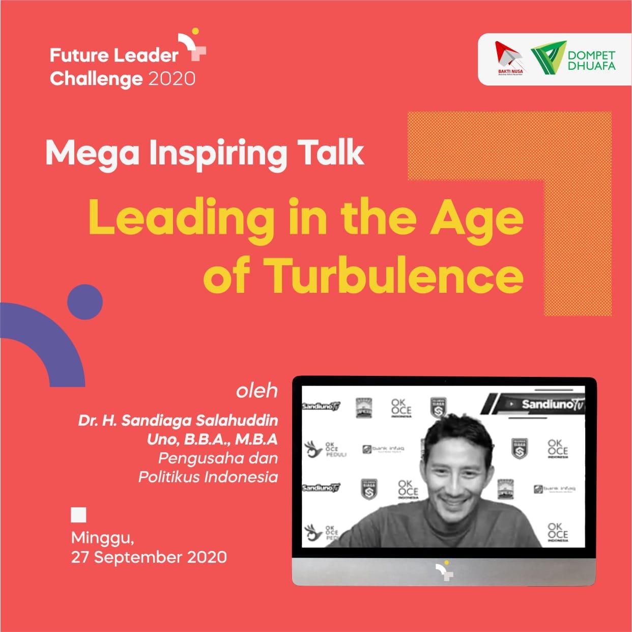 Sandiaga Uno Tingkatkan Komitmen, Konsistensi, dan Karakter Pemuda di Future Leader Challenge (FLC) 2020
