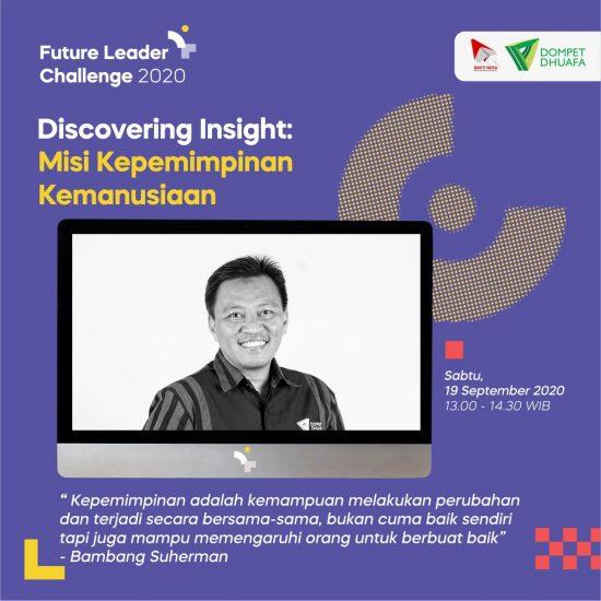 Ada Misi Kepemimpinan Kemanusiaan yang Pemuda Perlu Pahami di Future Leader Challenge (FLC) 2020