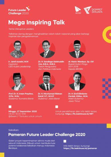 Kuy Ramekeun MEGA INSPIRING TALK Future Leader Challenge 2020 Slur!