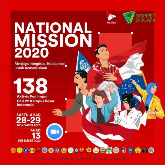 Ciptakan Pemuda Berintegritas untuk Kemanusiaan, BAKTI NUSA Gelar National Mission 2020