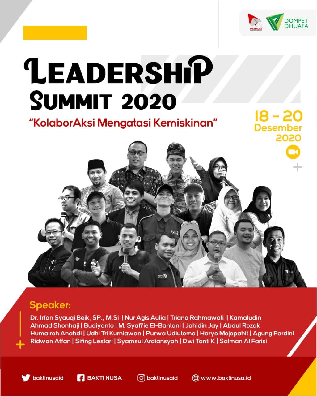 Ciptakan Peluang Tekan Angka kemiskinan, BAKTI NUSA Gelar Leadership Summit 2020