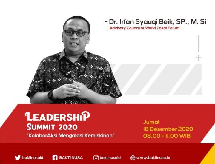 "Dr. Irfan Syauqi Beik: ""Peran Pemuda Sangat Penting untuk Kesejahteraan Bangsa"" dalam  Leadership Summit 2020"