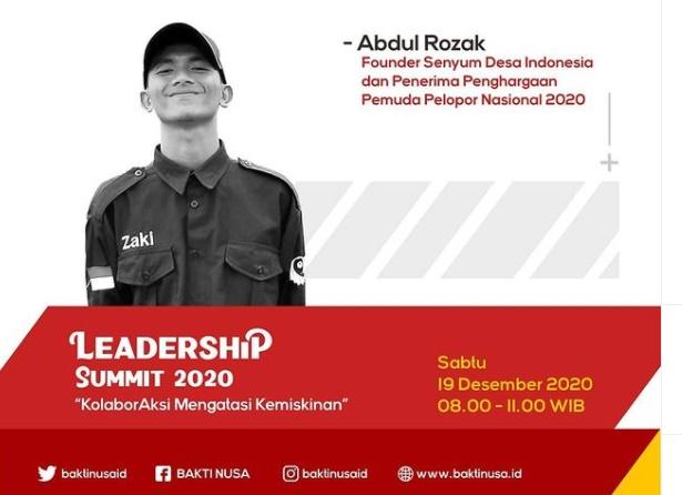 Leadership Summit 2020: Zaki dan Senyum Desa yang Menginspirasi Banyak Pemuda Indonesia